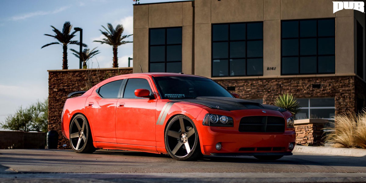 Show Off With This Red Dodge Charger On Dub Wheels