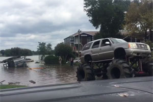 Hurricane Harvey Truck Wheels Rescue