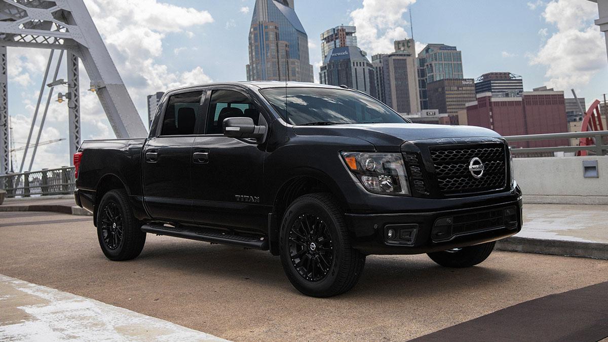 Go Dark with Nissan Titan Midnight Edition on Black Wheels!